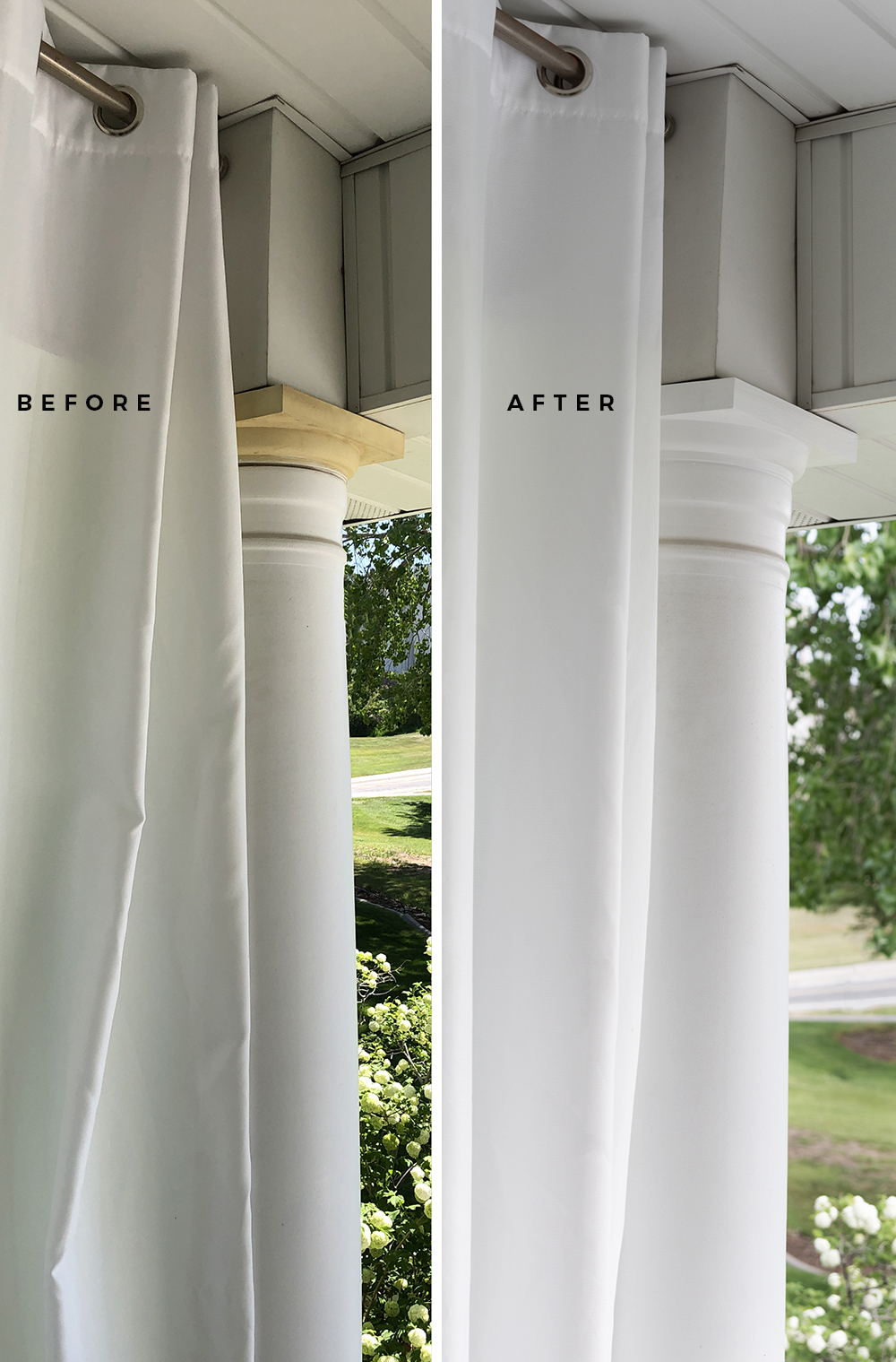 Painting Our Balcony Columns - roomfortuesday.com