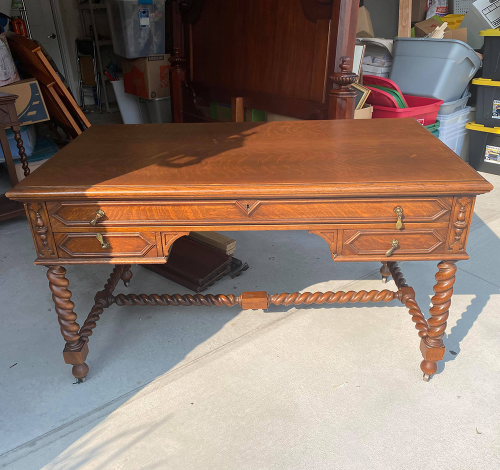 An Antique Addition for My Home Office - roomfortuesday.com