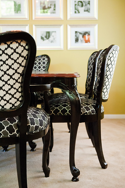 upholstered chairs for dining room best chair spinal fusion portfolio | austin interior design by fu knockout interiors