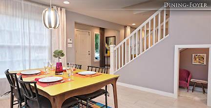pink kitchen aid mixer island granite top breakfast bar dining room | austin interior design by fu knockout ...