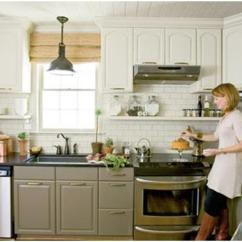 Different Color Kitchen Cabinets Pineapple Decorations For Roomology Loves Kitchens Where The Upper And Lower Are Two Colors