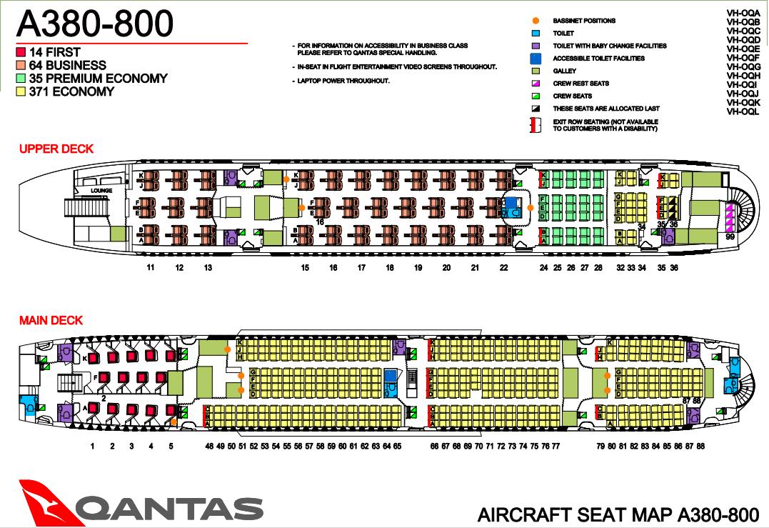 Qantas A380-800 Singapore to Melbourne Economy class flight ...