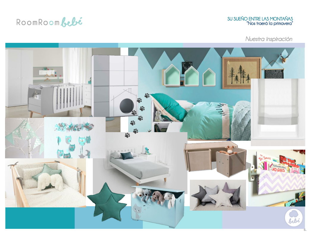 Habitaciones de bebs las montaas inspiran