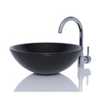 Black Granite Stone Round Wash Basin / Sink + FREE WASTE