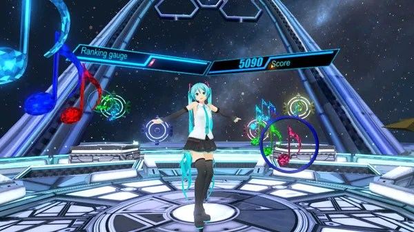 Hatsune Miku VR screenshot