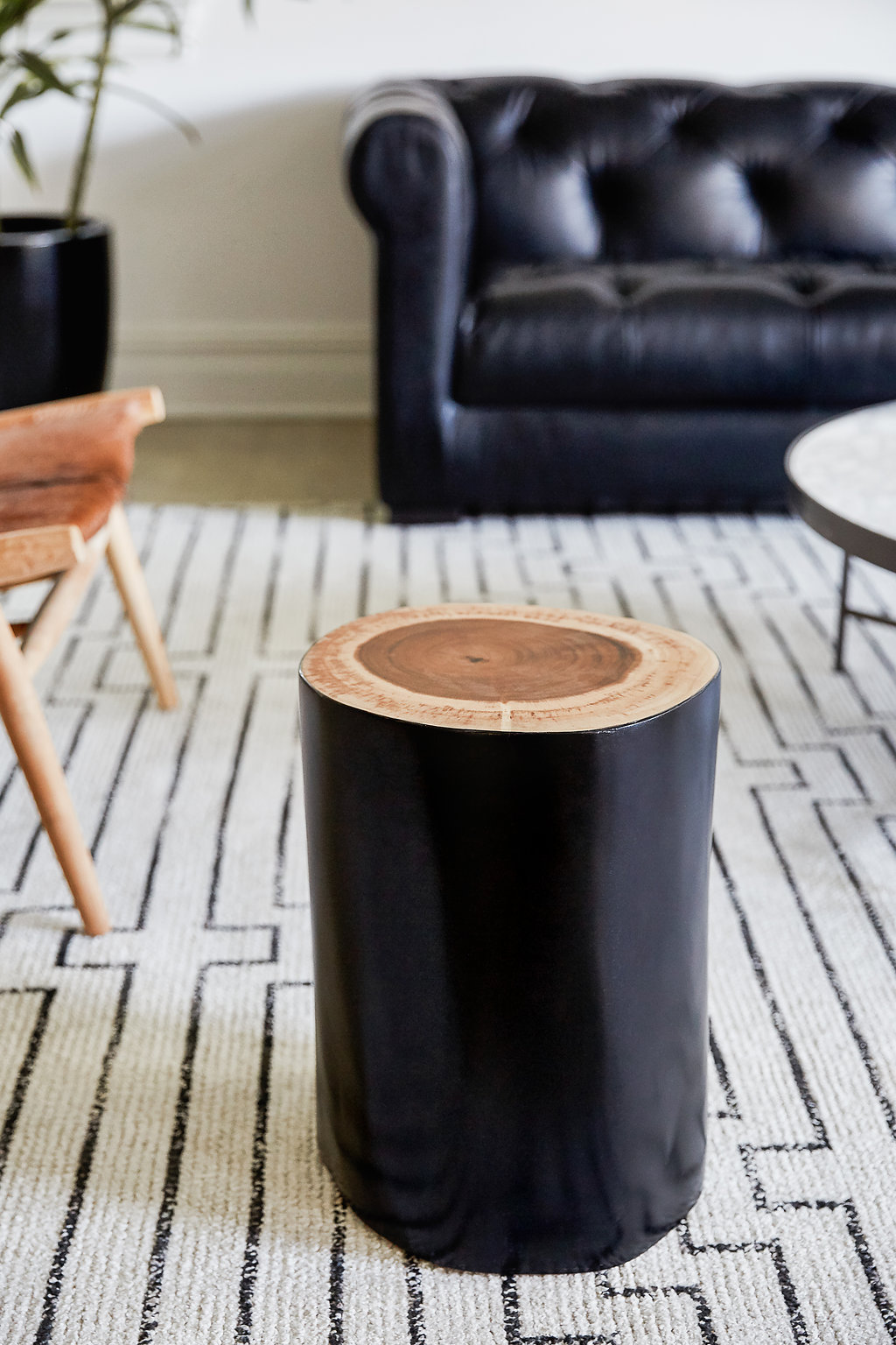 Lincoln Log Side Table