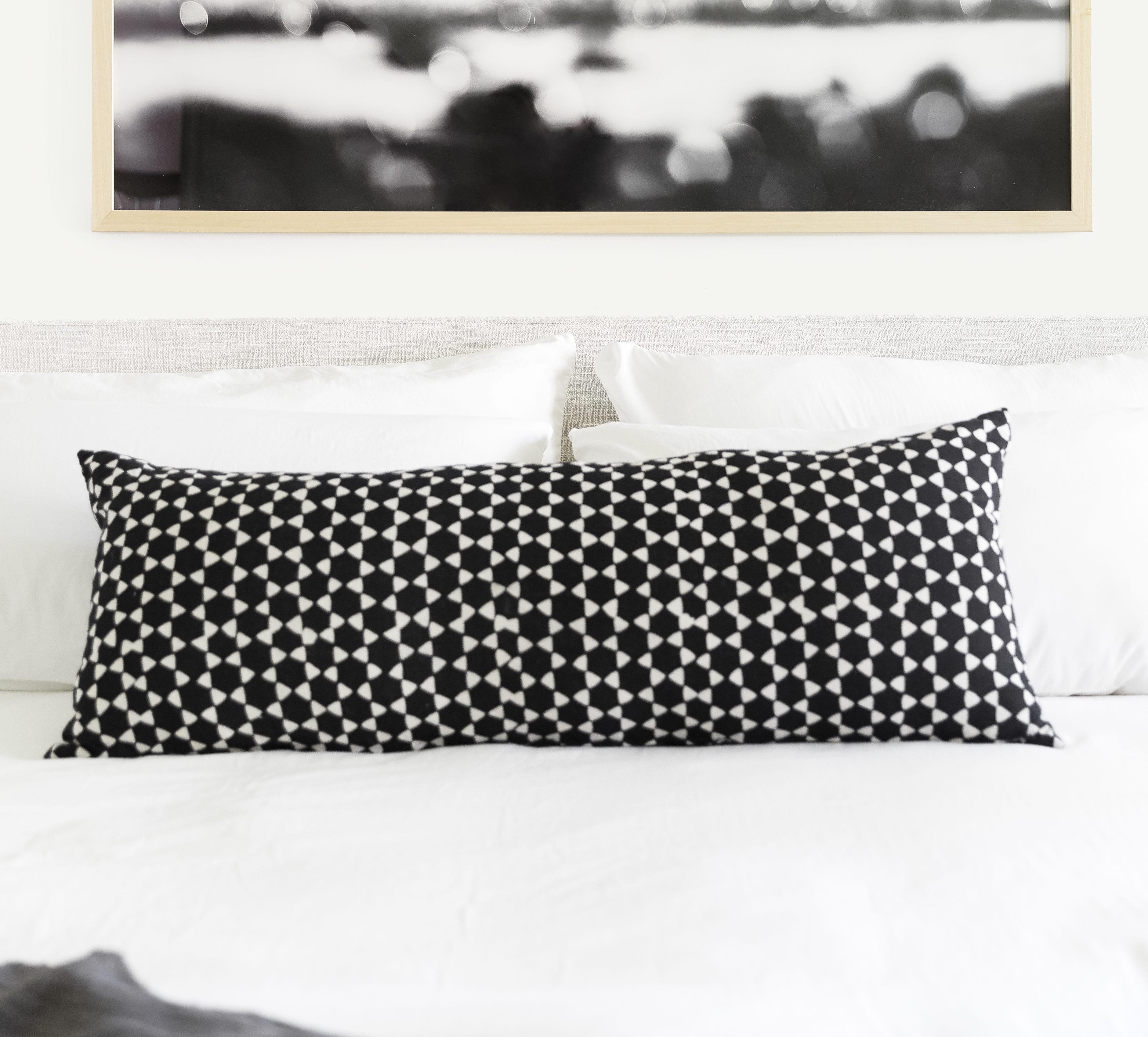 Black Graphic Pillow