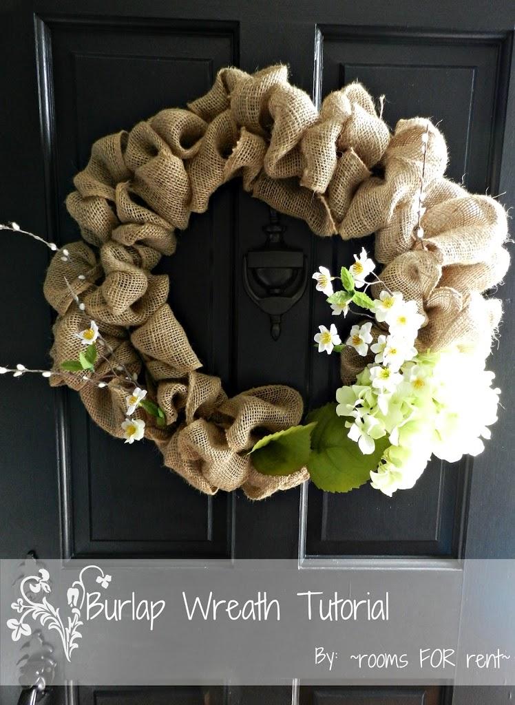 {Spring Burlap Wreath}