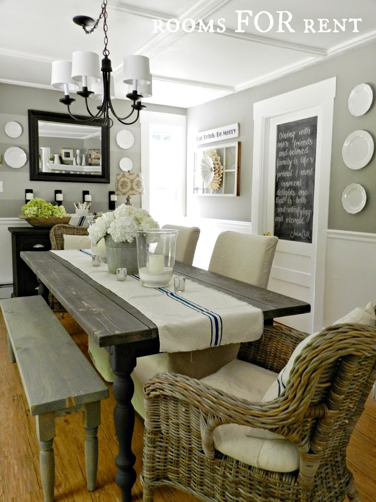 New chandelier in the dining room rooms for rent blog for Grey dining room