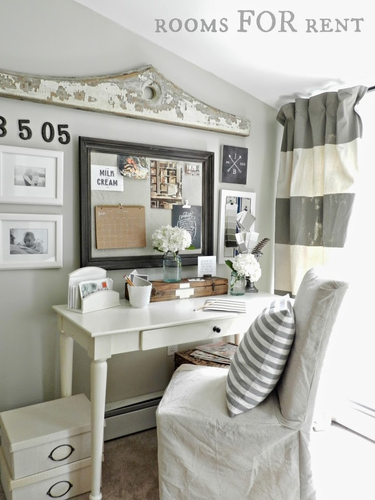 Room For Rent Design: Home Office {Sweet & Simple}