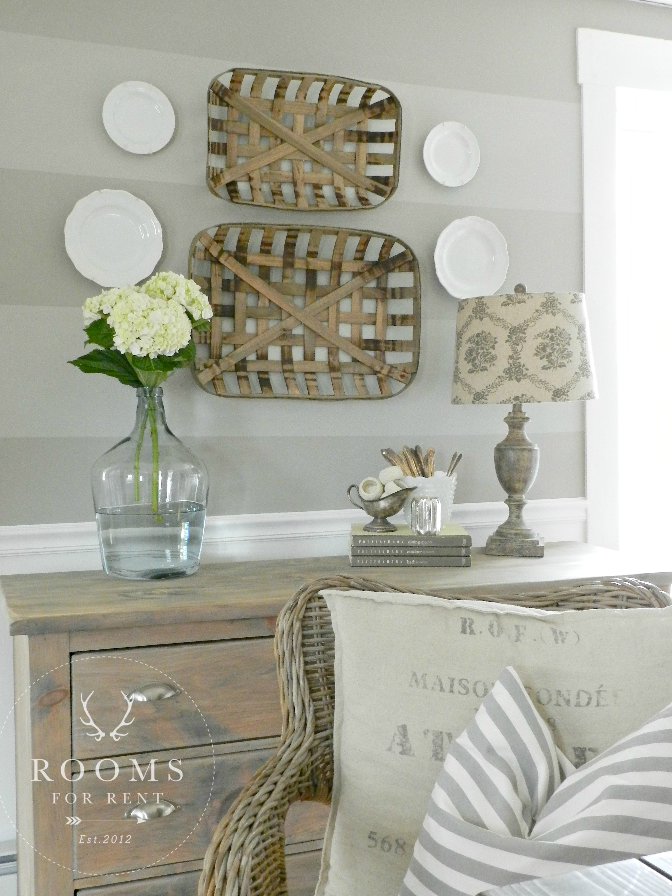 Tobacco Baskets Wall Decor Amp A Giveaway Rooms For Rent Blog