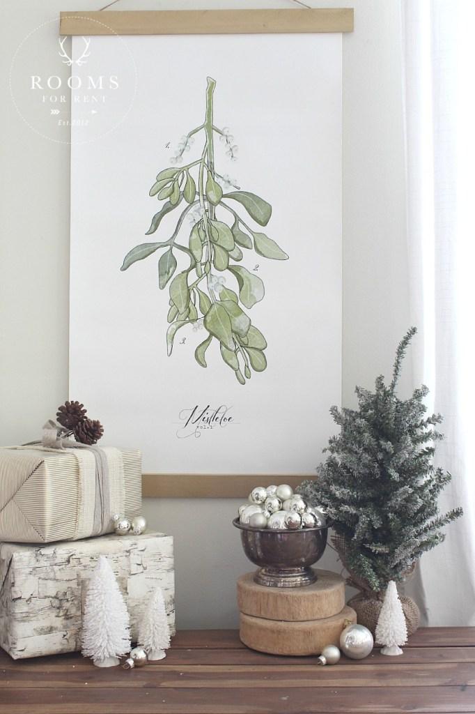 mistletoe hanging