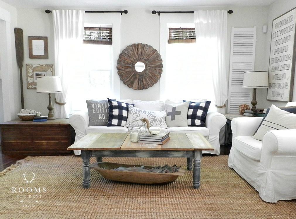 White Slip-Covered Sofa   Rooms FOR Rent Blog