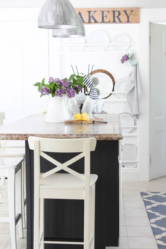 Our dining room table, was the first piece of furniture we ever built, and I can just tell you after wanting a farmhouse table for years, I was doing a happy dance for quite some time after we finished it! You can see the stain and paint choices I used in this post HERE.