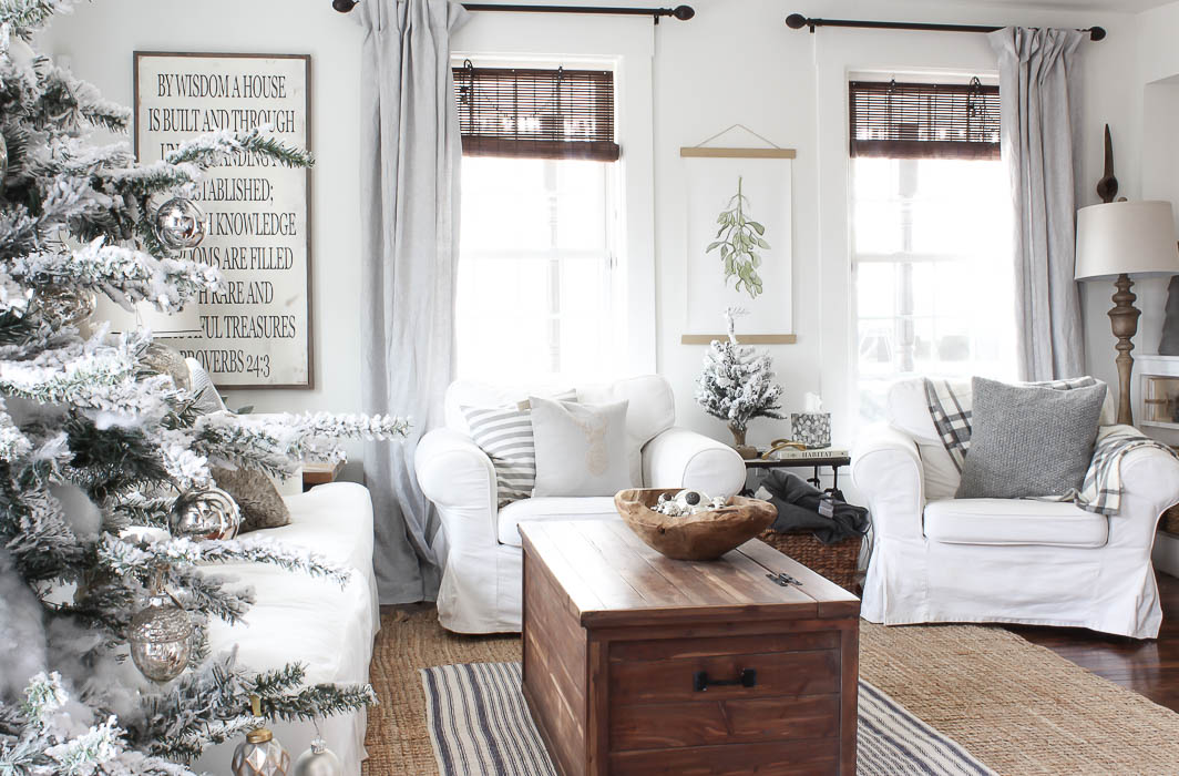 Light Gray Linen Curtains | Farmhouse Living Room Decor | Rooms FOR Rent Blog