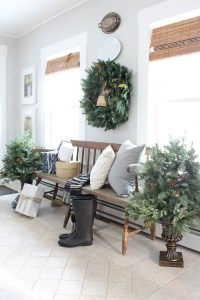 Christmas Entryway with Balsam Hill