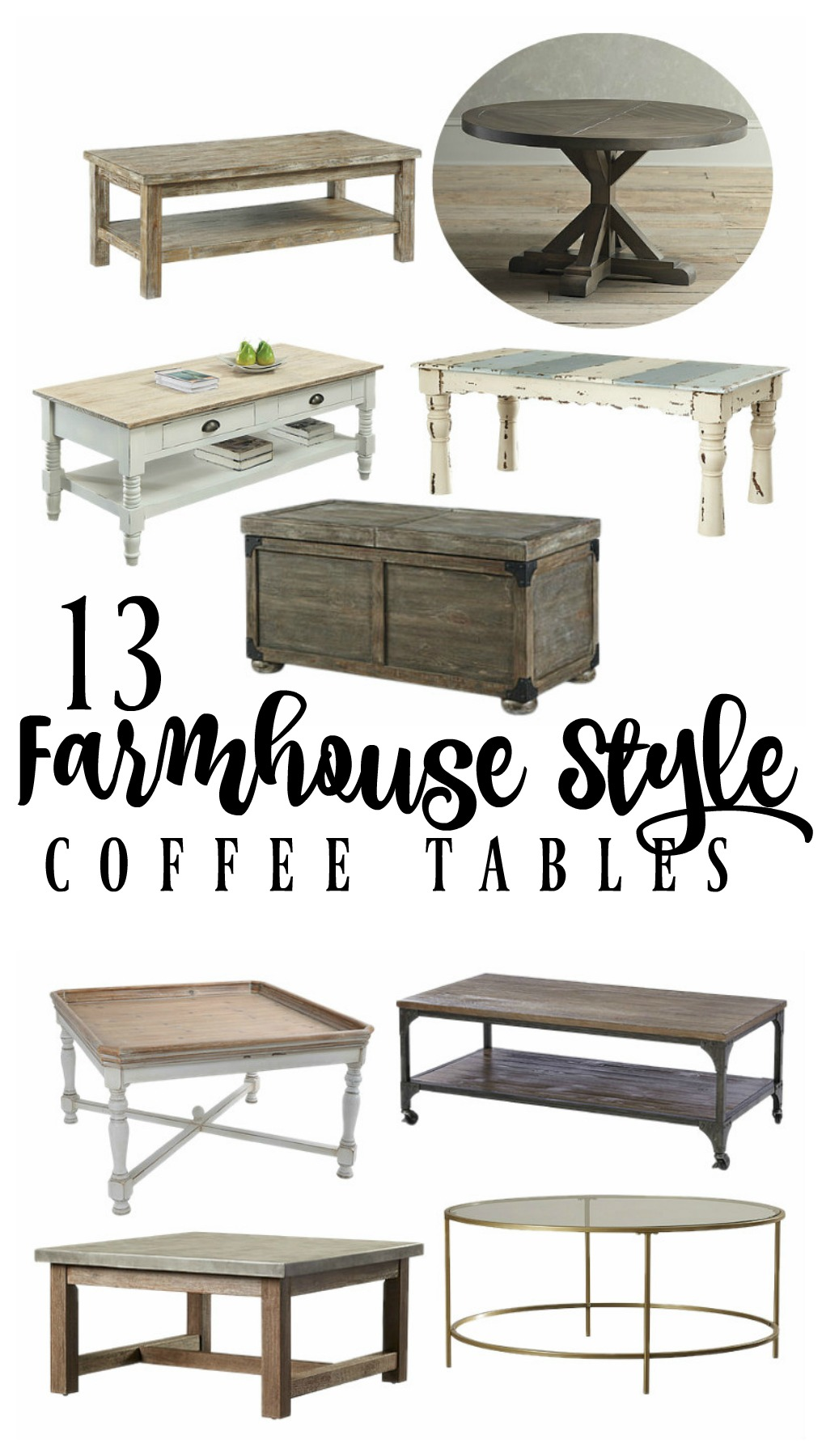 Farmhouse Style Coffee Tables | Rooms FOR Rent Blog