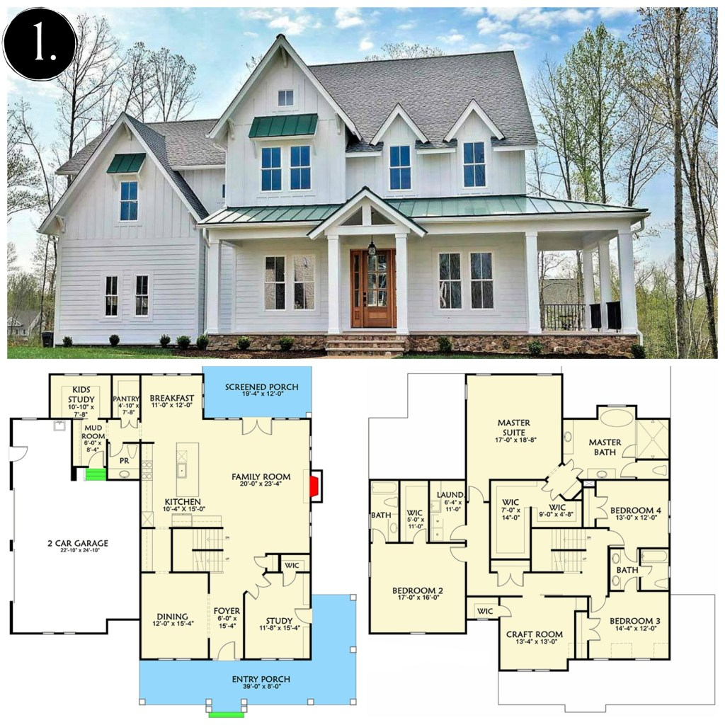 10 modern farmhouse floor plans i love rooms for rent blog for One floor farmhouse plans