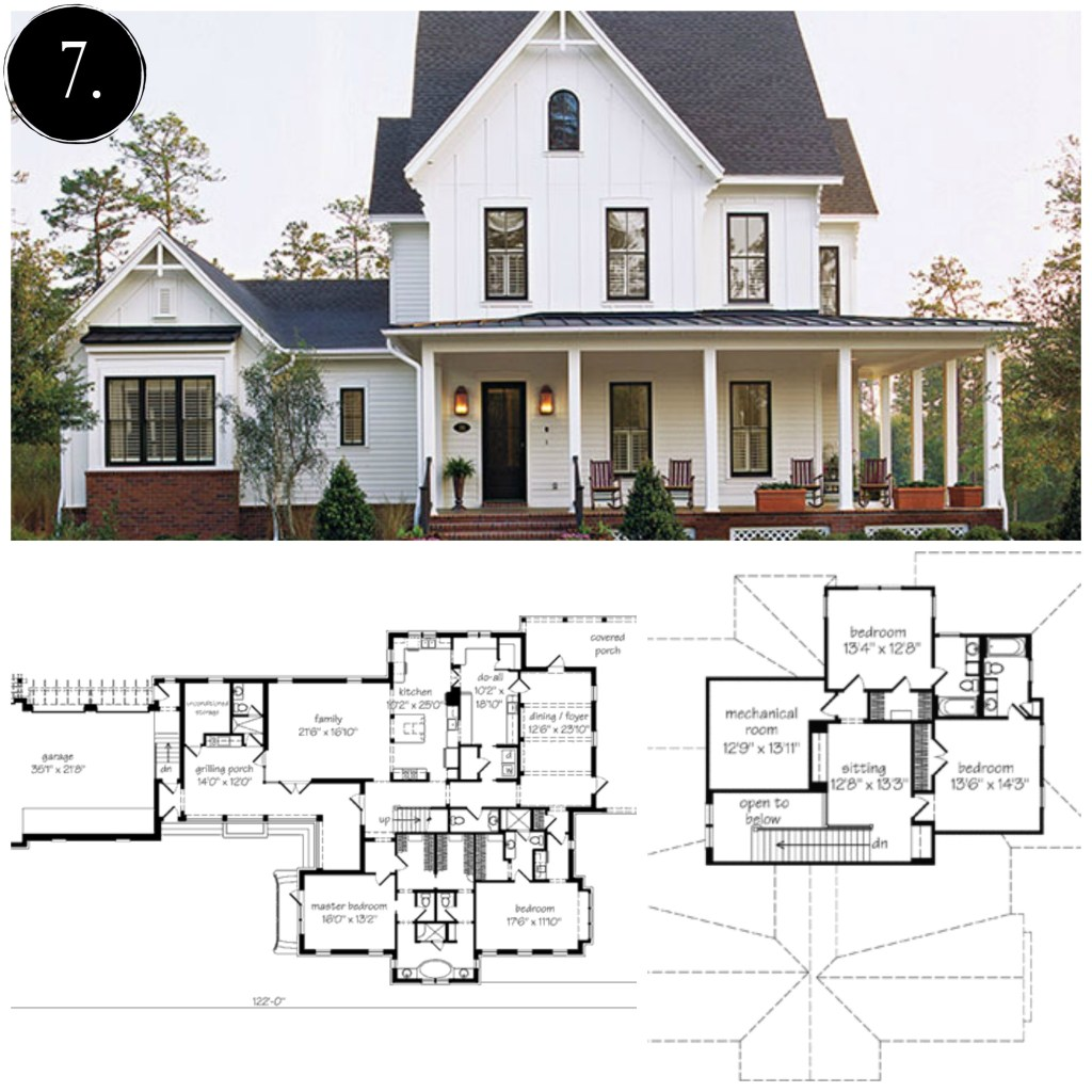 Modern farmhouse architecture luxurious home design for Modern farmhouse floor plans