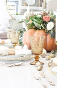 Pumpkin Centerpiece Thanksgiving Table