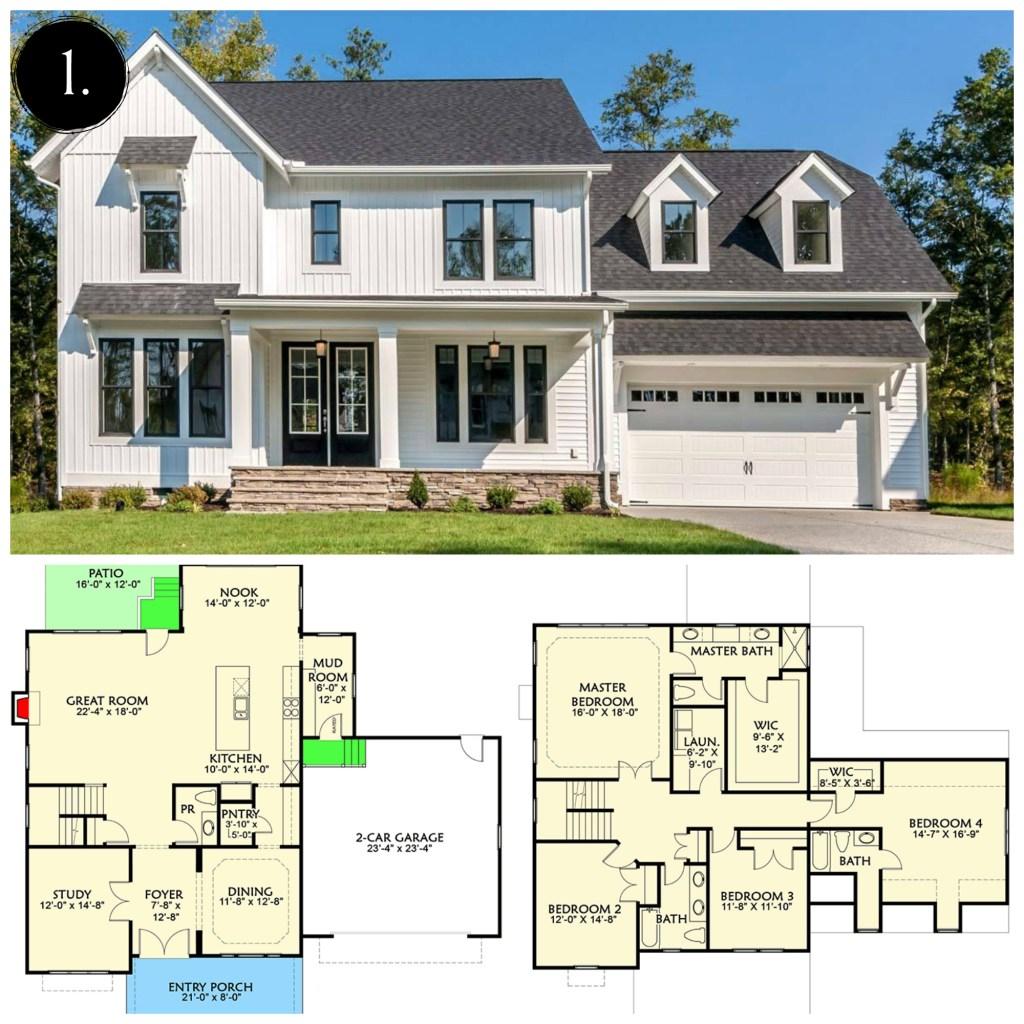 12 modern farmhouse floor plans rooms for rent blog for Farmhouse floor plans