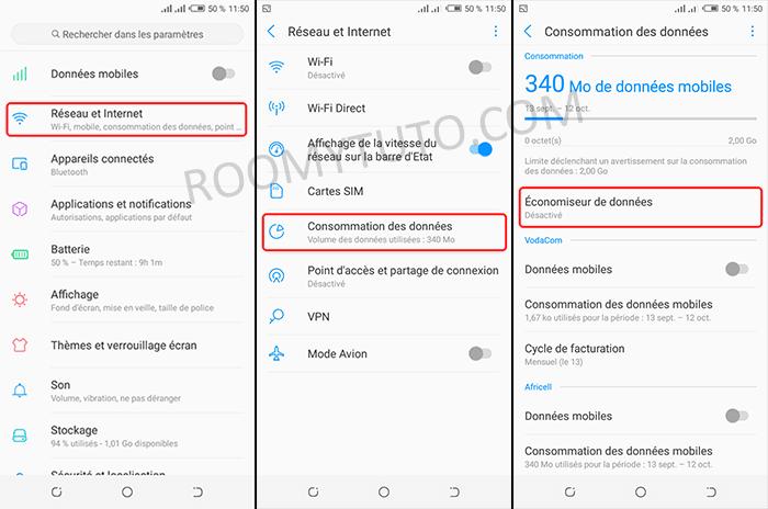 économiseur de données Android_Nougat_1