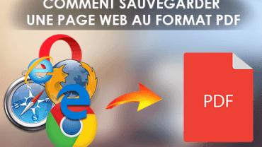 Web To PDF__COMMENT SAUVEGARDER UNE PAGE WEB AU FORMAT PDF