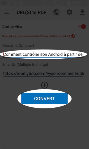 Web To PDF_COMMENT SAUVEGARDER UNE PAGE WEB AU FORMAT PDF_sur Android