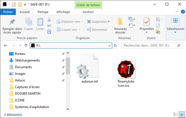 Autorun-infDéfinir une image comme icône de son disque dur ou sa clé USB_