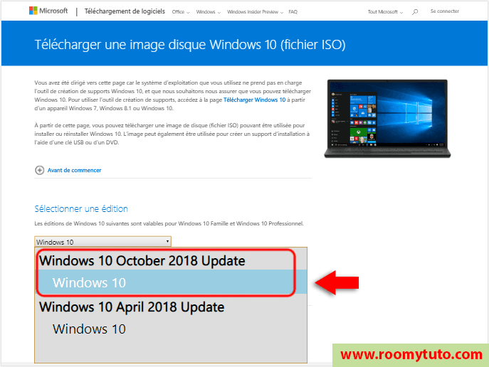 télécharger Windows 10 en iso 3