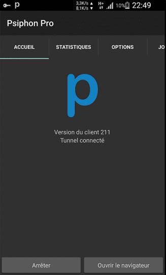 internet gratuit Yoomee - Psiphon Pro VPN