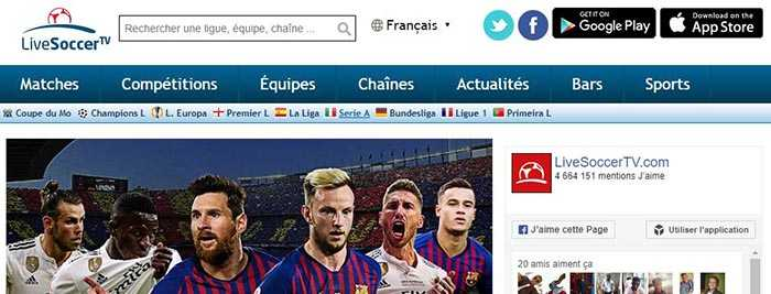 site de Streaming - LiveSoccer tv