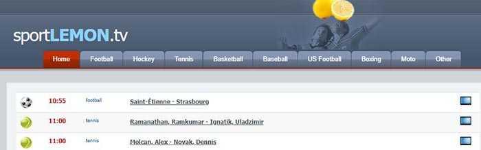 site de Streaming - SportLEMONtv