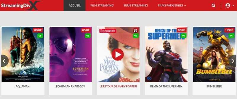 Site de streaming_StreamingDivX