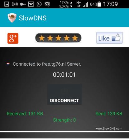 SlowDNS Internet gratuit 2019