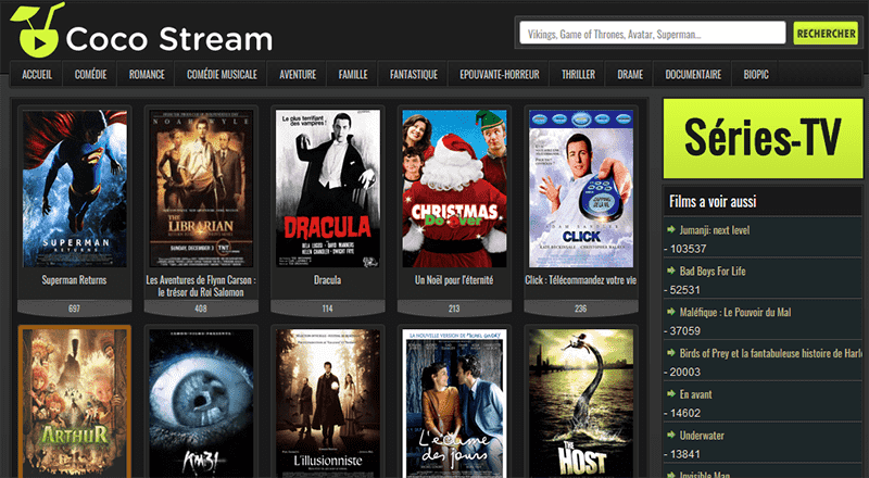Cocostream streaming gratuit sans compte