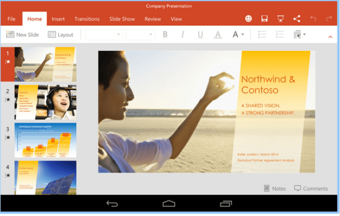 android app for powerpoint presentation
