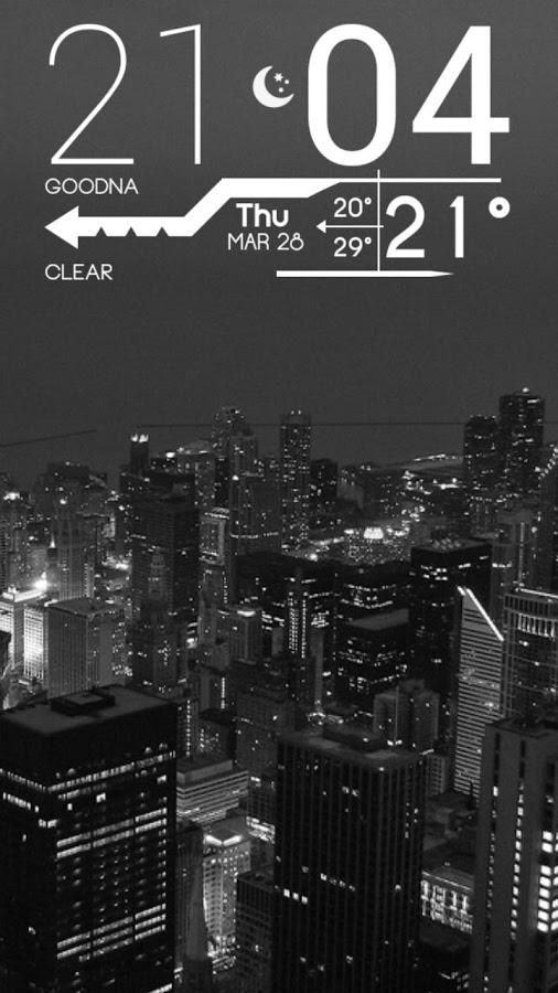 Clock Widget for Android - Lines Clock