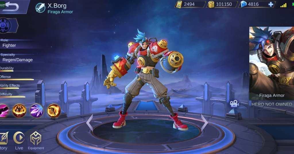 Mobile Legends New Hero: X-Borg, He Looks Like Iron Man