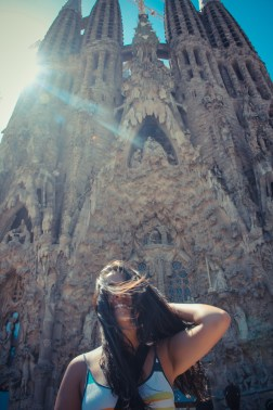 Sagrada Familia - windy day