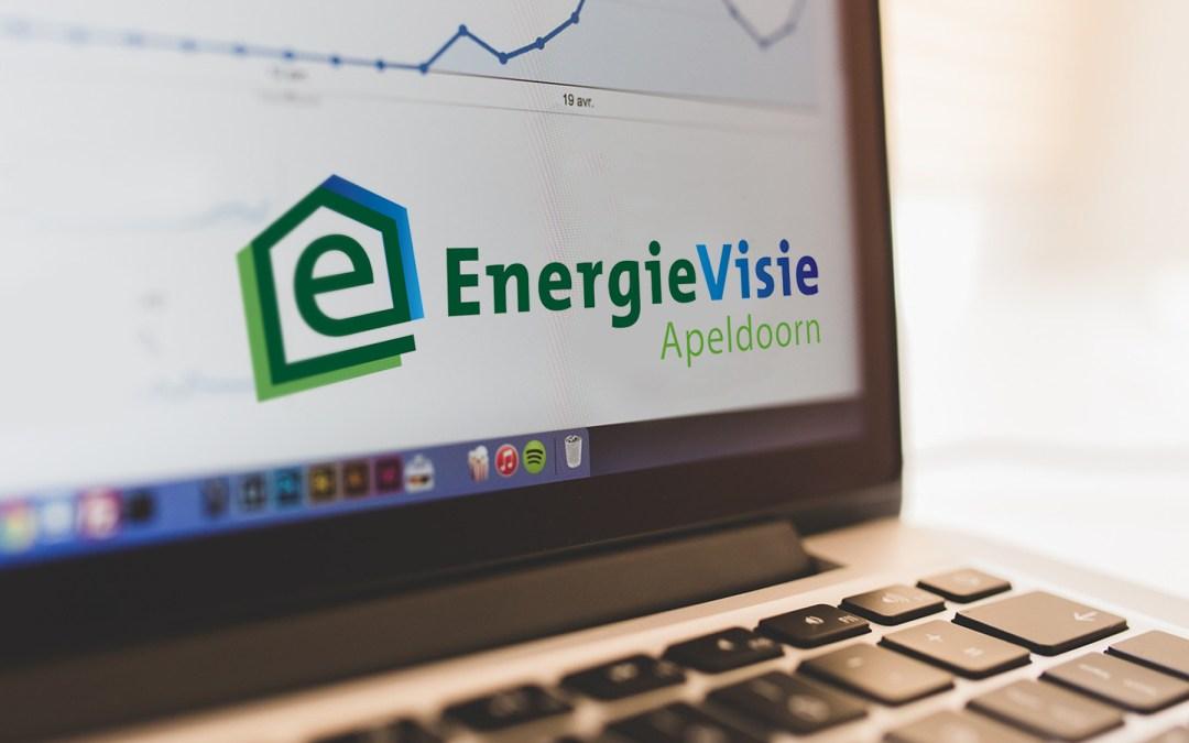 Bedrijfsnaam en logo ontwerp EnergieVisie Apeldoorn