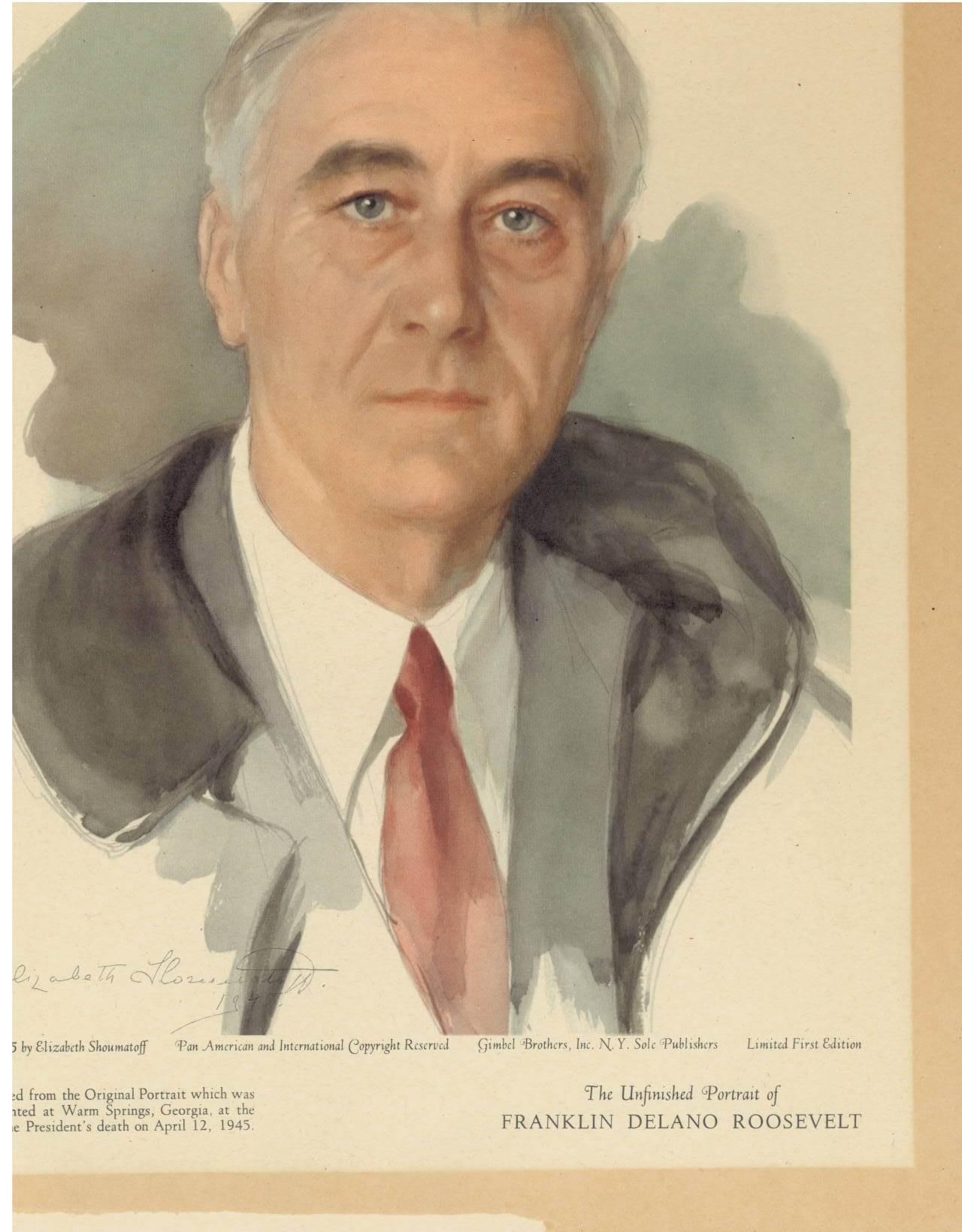 Unfinished Portrait Of Franklin D Roosevelt : unfinished, portrait, franklin, roosevelt, Years, After, Death,, Remember, Roosevelt, House, Public, Policy, Institute, Hunter, College