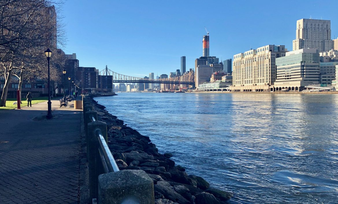 January 2nd, 2021, Mild Winter Views of Roosevelt Island Now