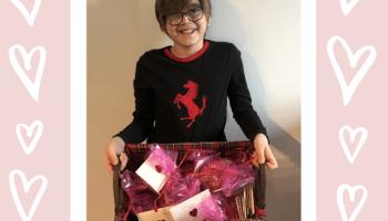 Andreas Tsatsis with handmade Valentines