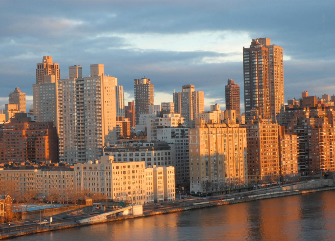 Manhattan Golden Sunrise From Roosevelt Island, Fine Art Print