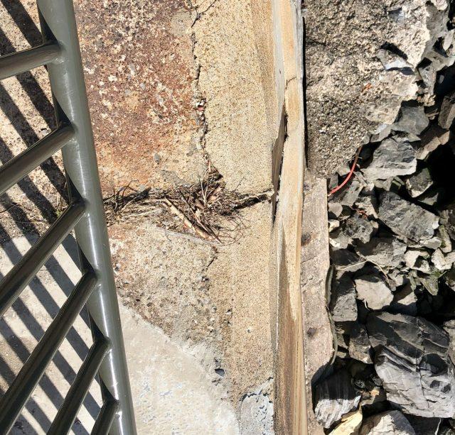 East Promenade seawall cracked