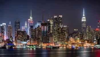 city lights under night sky