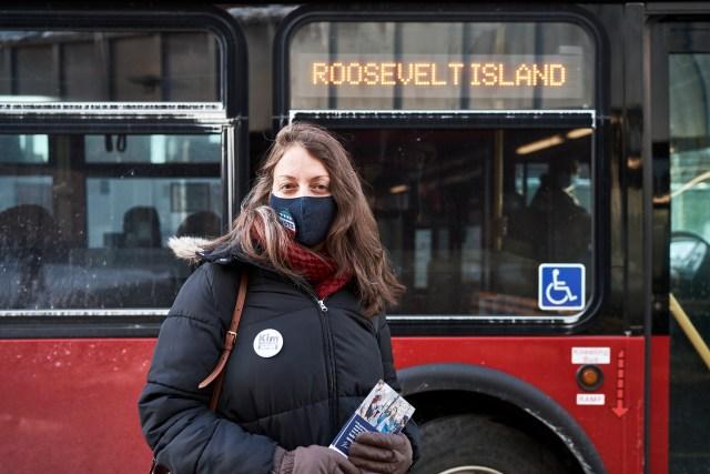 Kim Moscaritolo on Roosevelt Island