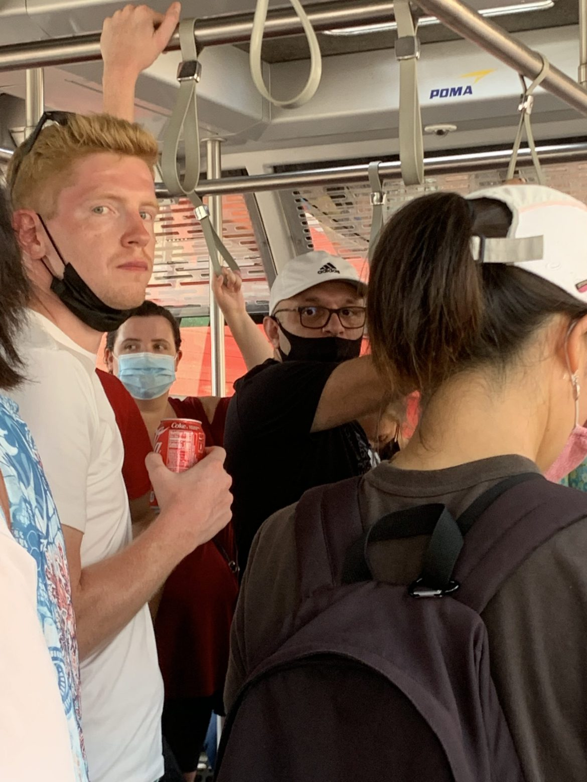 Why are maskless riders still welcome on the Tram and Red Buses?