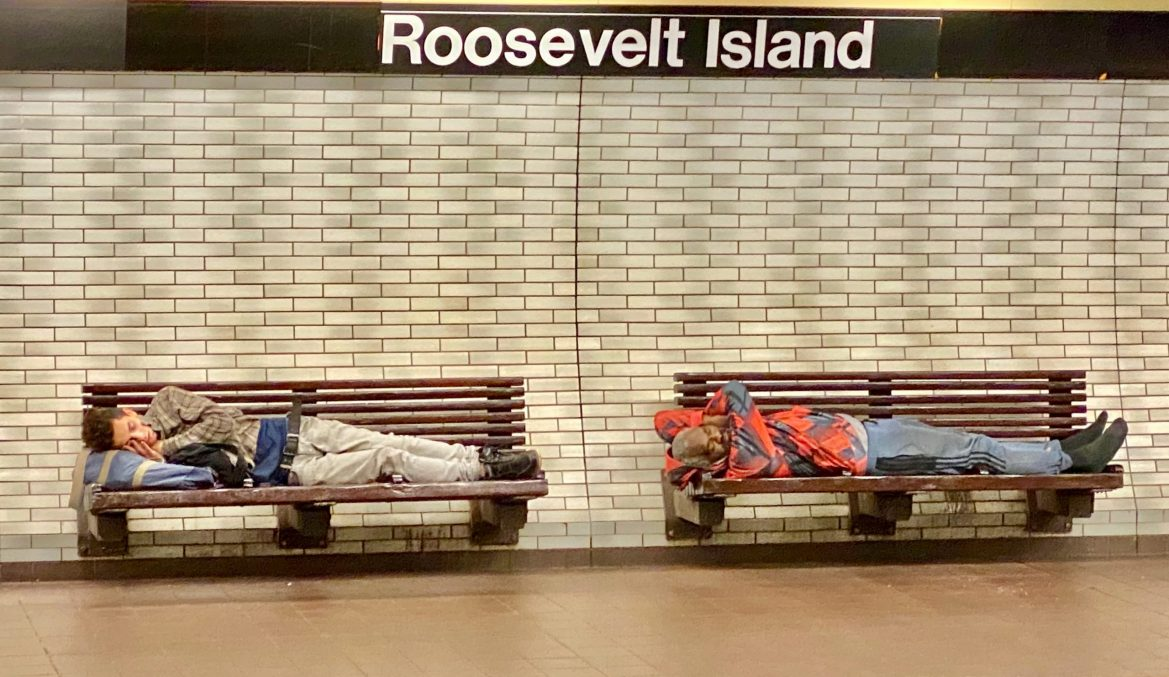 Is Homelessness Out of Control in New York? Asleep in the Roosevelt Island Subway